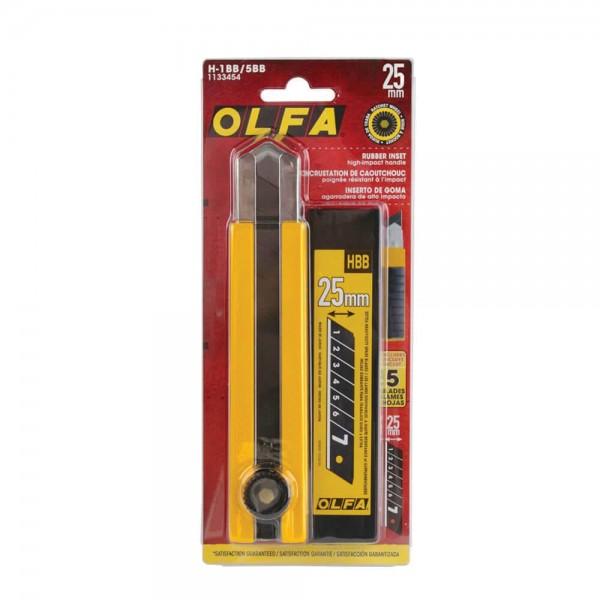 OLFA H-1BB/5BB 25mm Extra Heavy Duty Cutter