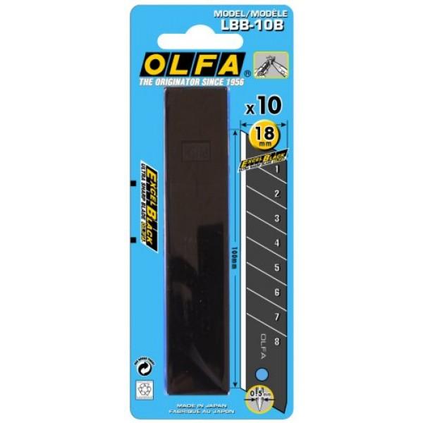 Olfa LBB-10B 18mm Excel Black Speed Blades