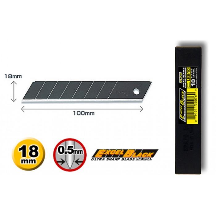 Olfa LBB-10 Spare 18mm Excel Black Speed Blades