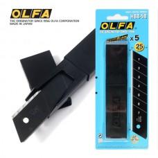 Olfa HBB-5B Spare Excel Black 25mm Blades
