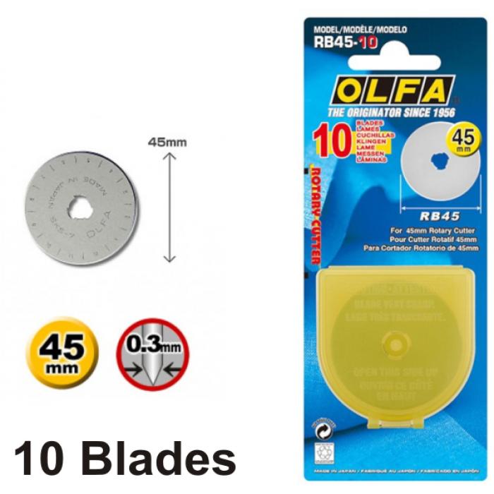 Olfa Spare Blade RB45-10 - 45mm