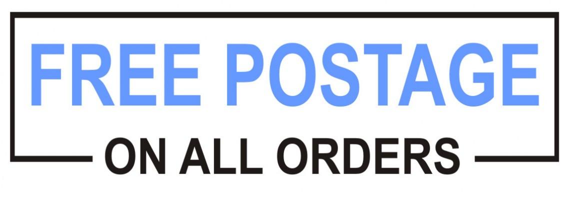 Free Postage Blue
