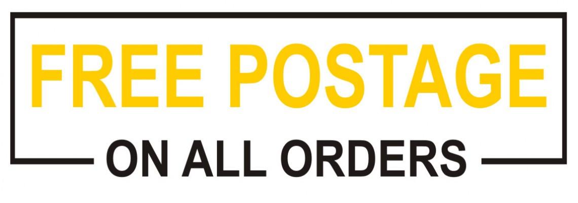Free Postage Yellow