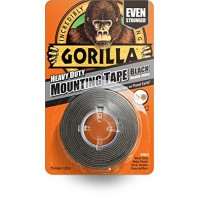 Gorilla Heavy Duty Mounting Tape Black (25.4mm x 1.5m)