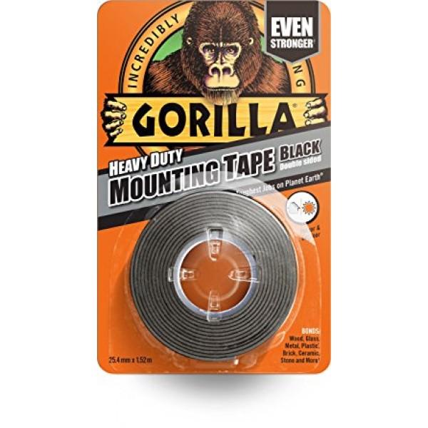 Gorilla Heavy Duty Mounting Tape Black (25.4mm x 1.5m)