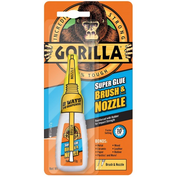 Gorilla Glue Super Glue Brush & Nozzle (12g)